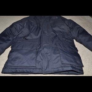 Boy's Navy Blue North Face Parka Coat